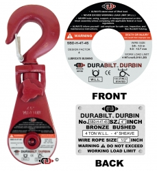 Durabilt Snatch Block 4 ton w/ Swivel Hook