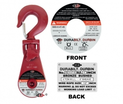 Durabilt Snatch Block 2 ton w/ Swivel Hook