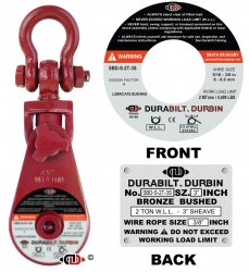 Durabilt Snatch Block 2 ton w/ Shackle