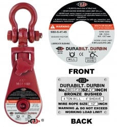 Durabilt Snatch Block 4 ton w/ Shackle