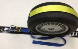 Ultimate v2 Horizontal E-Track Wheel Strap- with 2 Low Pro Idlers