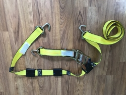 10 ft Ratchet Wheel Strap with Swivel J hooks 8 pack Yellow SHIPPING INCLUDED!