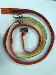 Ultimate V3 Horizontal E-Track Wheel Strap-LP- No Ratchet