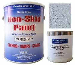 Non-Skid (Brush or Roll-On Paint) 1Gallon- Water based- plus Extra Grit