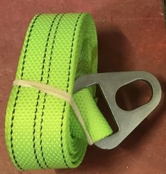 "2"" x 8' DIAMOND WEAVE Chevron Wheel Lift Strap with Oval Hole (color options)"