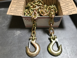 3/8 x 10' G70 Towing Safety Chain with Safety Hook