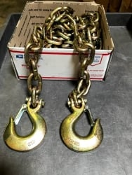 2 pack of 1/2 x 10' G70 Towing Safety Chains with Safety Hook--includes USPS Priority Shipping