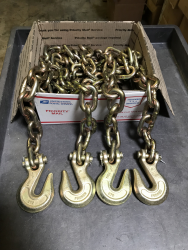 2 pack 1/2 x 10' g70 heavy equipment chain with Clevis grab hook each end (shipping included)