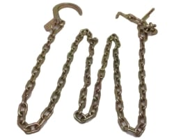 "10' Tow Chain w/ 8"" J hook and R, T, J cluster"