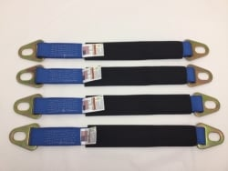 "4 pack 24""  Diamond Weave Axle Strap with Protective Sleeve and Oval Slot Hardware and Free USPS Shipping"