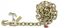 "5/16"" x 8' G70 Auto Tie-Down Chain with TJ Combo and Grab Hooks"