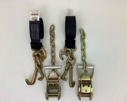 2 Pack of 10' Black DIAMOND WEAVE Frame Hook Straps with Chain Tail Ratchet Handles and USPS Priority Shipping Included!