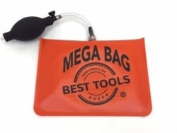 MEGA Orange Air Wedge Lock Out Tool with Urethane Coating on Polyester Bag