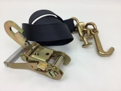 One Set of 10' Black DIAMOND WEAVE Frame Hook Strap with Snap Hook Ratchet Handle and USPS Priority Shipping Included!