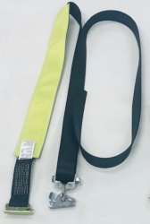 10 ft Auto Tie-Down Strap for E-Track w/Low Profile Tread Grab Sleeve NO RATCHET