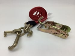 One Set of 10' Red DIAMOND WEAVE Frame Hook Strap with Swivel-J Ratchet Handle and USPS Priority Shipping Included!