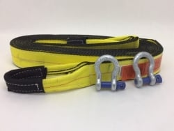 "3"" x 30' Triple Ply Tow & Recovery Strap with 5/8"" Screw Pin Shackles and USPS Priority Shipping Included!"