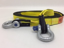 "3"" x 30' Triple Ply Tow & Recovery Strap with 3/4"" Screw Pin Shackles and USPS Priority Shipping Included!"