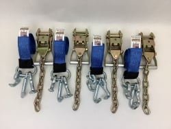 4 Pack of 10' Blue 12k Webbing with RTJ Cluster Frame Hooks and USPS Priority Shipping Included!