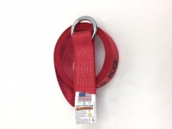 8 Ft Steel Ring Lasso Strap 12k Webbing - RED