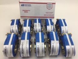 "10 Pack of 2"" x 20' Blue Cargo E-Track Ratchet Strap with Spring E-Fittings and USPS Priority Shipping Included!"