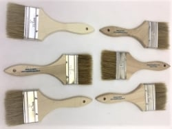"Six Pack (6) 3"" Chip Brushes - USPS Priority Shipping Included!"
