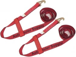 2 Pack of Red TECNIC Webbing Wheel Lift Straps to fit Jerr-Dan MPL / Element Basket and USPS Priority Shipping Included!