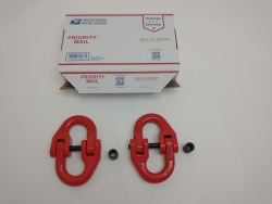 1/2 inch Grade 80 Alloy Coupler Red 2 pack includes USPS Shipping