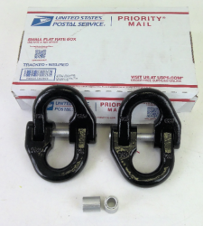 1/2 inch Grade 80 Alloy Coupler BLACK 2 Pack Includes USPS Priority Shipping