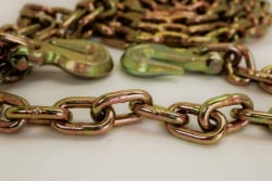 3/8 x 20' grade 70 Binder Chain with 2 clevis grab hook