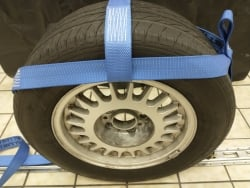 Adjustable Basket- Ratchet Wheel Strap- Diamond Weave: BULLRING E-Track (Ruslan version)