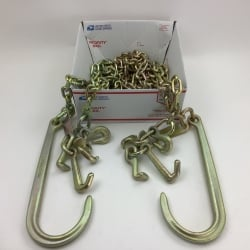 "TWO PACK   5/16"" x 10' Tow Chain with Big 15"" J / RTJ Cluster Hooks and USPS Priority Shipping Included!"