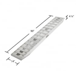 "SINGLE 90 inch Loading Ramps (Single 90""L x14""W x 4 1/4"" Thick) - Shipping Included"