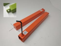 Tow L-Arm Style 1 <b>Protector Sleeve (Pair)</b> for self-loader- Welded ring- 20 inch-Orange