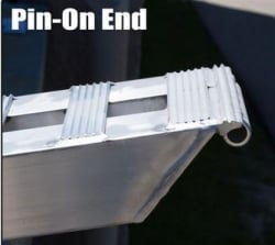 "Pair 6ft Aluminum Loading Ramps (72"" x 18"" x 1.75"") with Pin-on End for 10"" Load Height"