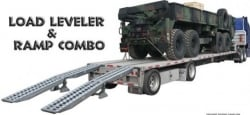 16 ft Long 23,000 Pound Aluminum Ramp Loading System - Aluminum Skid Seats