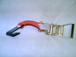 Ratchet Handle (wide) with Flat Hook-Yellow